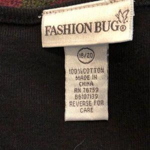 Fashion Bug Tops - Fashion Bug Black Top 18/20